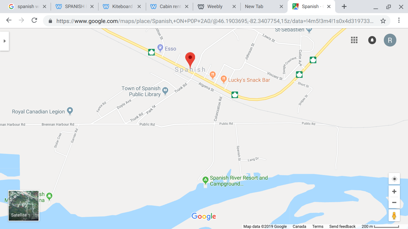 Spanish River Resort is only 2 mins off the TransCanada highway.